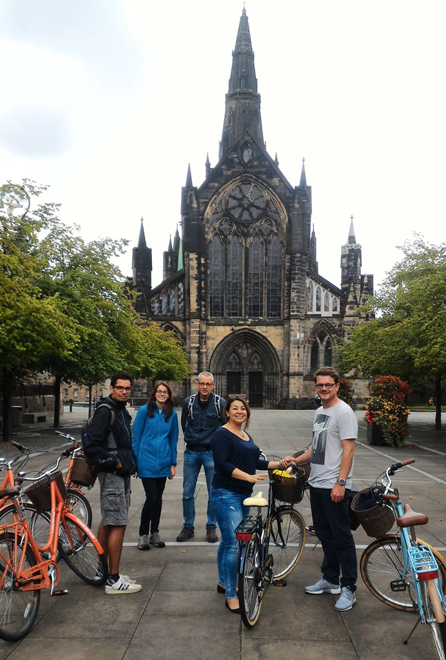 bike tour sightseeing in Glasgow