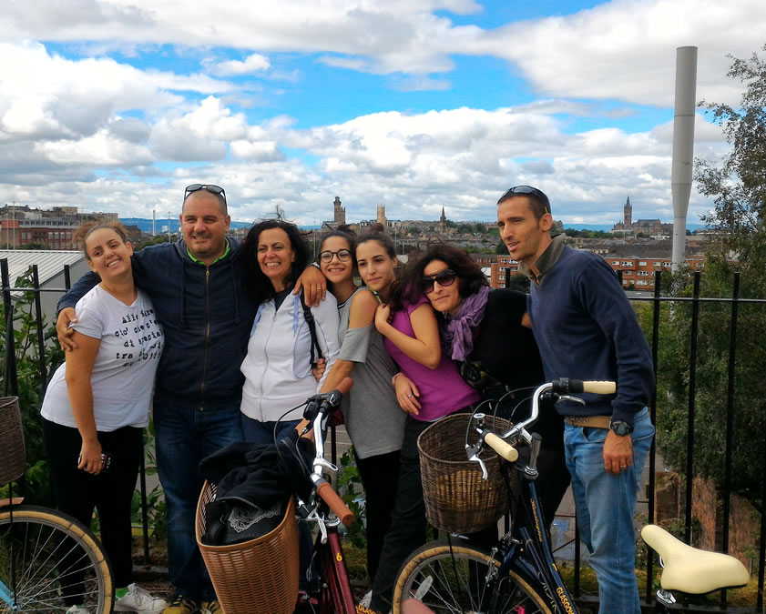 Sightseeing Tour Glasgow with the Italian Visitors