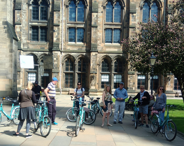 Glasgow Bike Tours at Glasgow University