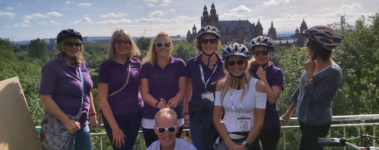 SEC delegates on bike tour